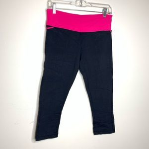 Lululemon pink and black leggings size 8